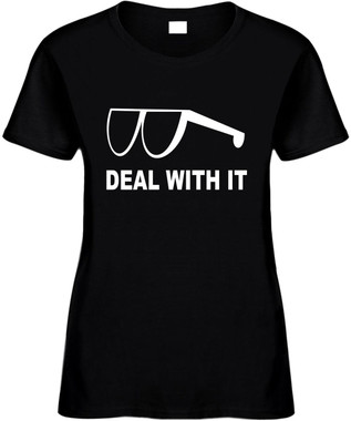Deal With It (retro) Novelty T-Shirt