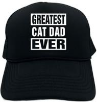 GREATEST CAT DAD EVER Novelty Foam Trucker Hat