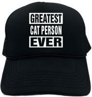 GREATEST CAT PERSON EVER Novelty Foam Trucker Hat
