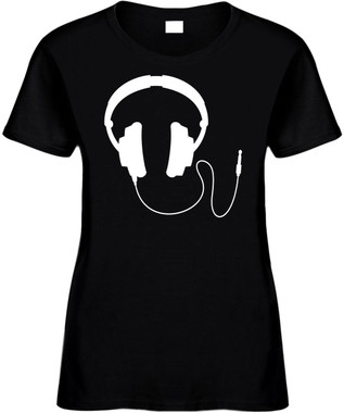 Retro Headphones) Novelty T-Shirt