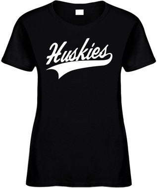 HUSKIES (baseball font) Novelty T-Shirt