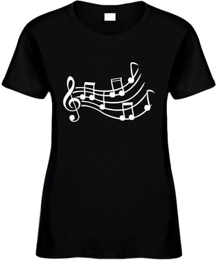 Music Sheet (music notes) Novelty T-Shirt