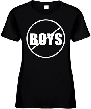 NO BOYS (anti-boys) Novelty T-Shirt