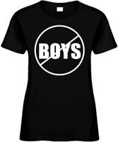 NO BOYS (anti-boys) Novelty T-Shirt