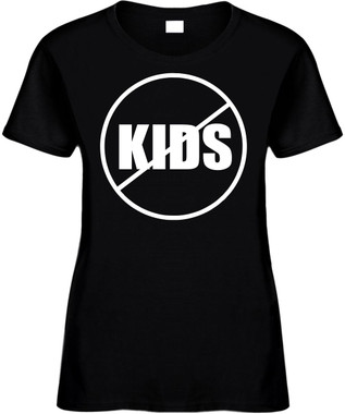NO KIDS (anti-kids) Novelty T-Shirt