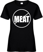 NO MEAT (anti-meat) Novelty T-Shirt