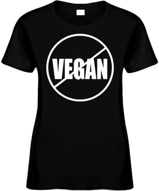 NO VEGAN (anti-vegan) Novelty T-Shirt