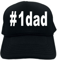 #1dad (Hashtag Tee Shirt) Novelty Foam Trucker Hat