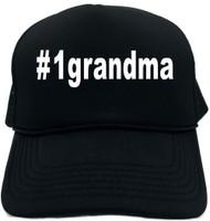 #1grandma (Hashtag Tee Shirt) Novelty Foam Trucker Hat