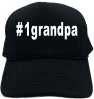 #1grandpa (Hashtag Tee Shirt) Novelty Foam Trucker Hat