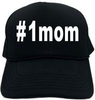 #1mom (Hashtag Tee Shirt) Novelty Foam Trucker Hat