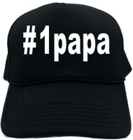 #1papa (Hashtag Tee Shirt) Novelty Foam Trucker Hat
