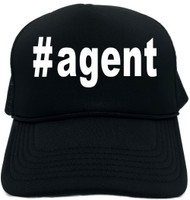#agent (Hashtag Tee Shirt) Novelty Foam Trucker Hat