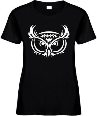 OWL FACE (animal) Novelty T-Shirt