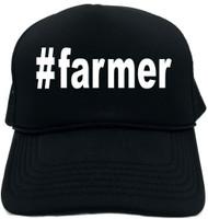 #farmer (Hashtag Tee Shirt) Novelty Foam Trucker Hat