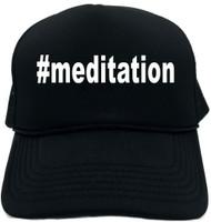 #meditation (Hashtag Tee Shirt) Novelty Foam Trucker Hat