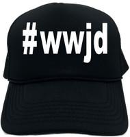 #wwjd (Hashtag Tee Shirt) Novelty Foam Trucker Hat