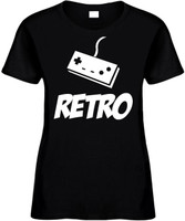 Retro (with gaming controller) Novelty T-Shirt