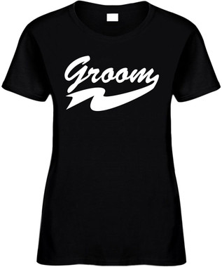 Groom Bridal Party Wedding Planning Engagement Grooms Bachelor Party Novelty T-Shirt