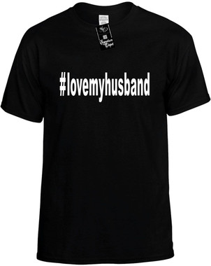I love my husband cute t-shirt wife wedding marriage shirt for bridal party engagement tee dolman fitted juniors womens top mr mrs bride groom