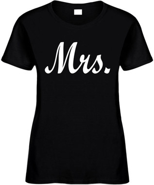 MRS (Bride Wedding Bridal Party) Bridal Party Bachelorette Marriage Novelty T-Shirts