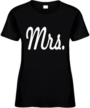 MRS (Bride Wedding Bridal Party) Bridal Party Bachelorette Marriage Novelty T-Shirt