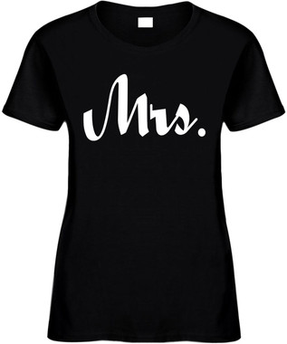 MRS (Bride Wedding Bridal Party) Bridal Party Bachelorette Marriage Novelty Tee
