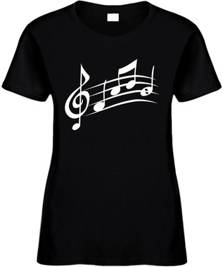 Music Sheet (music notes) Novelty T-Shirts