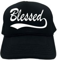Blessed (baseball font) Novelty Foam Trucker Hat