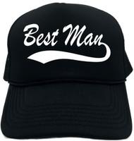 Best Man (Baseball Font) Novelty Foam Trucker Hat