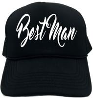 Best Man (new font) Novelty Foam Trucker Hat