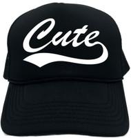 Cute (baseball font) Novelty Foam Trucker Hat