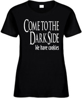 Come To The Dark Side We Have Cookies Funny T-Shirts Womens Novelty Tees