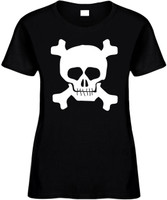 Skull Funny T-Shirts Womens Novelty Tees