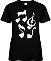 CLEFT NOTE HEART Novelty T-Shirt