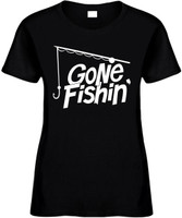 GONE FISHIN with pole Novelty T-Shirt