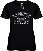 IMPORTED FROM THE STARS Womens Novelty T-Shirt