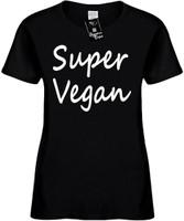Super Vegan (Food Health) Vegan Herbivore Womens Novelty T-Shirt