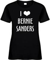 I Love (heart) Bernie Sanders President Womens Novelty T-Shirt