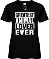 GREATEST ANIMAL LOVER EVER Womens Novelty T-Shirt