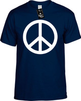 WHITE PEACE SIGN Youth Tees Novelty Funny T-Shirts