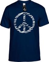 ZEBRA PEACE SIGN Youth Tees Novelty Funny T-Shirts