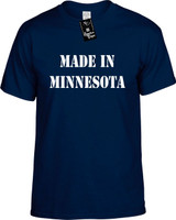 Made In Minnesota Funny T-Shirts Youth Novelty Tees