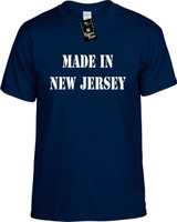Made In New Jersey Funny T-Shirts Youth Novelty Tees