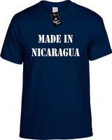 Made In Nicaragua Funny T-Shirts Youth Novelty Tees