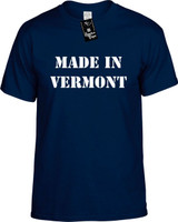Made In Vermont Funny T-Shirts Youth Novelty Tees