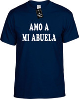 Amo A Mi Abuela (Spanish For I Love My Grandma) Funny T-Shirts Youth Novelty Tee Shirt