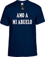 Amo A Mi Abuelo (Spanish For I Love My Grandpa) Funny T-Shirts Youth Novelty Tee Shirt