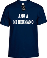 Amo A Mi Hermano (Spanish For I Love My Brother) Funny T-Shirts Youth Novelty Tee Shirt