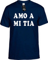 Amo A Mi Tia (Spanish For I Love My Aunt) Funny T-Shirts Youth Novelty Tee Shirt